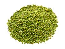 在白色背景隔绝的绿豆 免版税库存图片