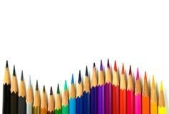 在白色背景隔绝的Coloor铅笔 免版税库存照片