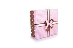 在白色背景隔绝的giftboxes 免版税库存图片