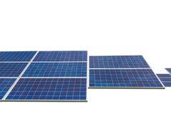 在白色背景隔绝的Photovoltaics模块太阳电池板 免版税图库摄影