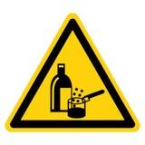 在白色背景,传染媒介例证的化学制品在使用中的标志标志孤立 库存例证