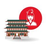 在白色背景,传染媒介例证的中国文化设计 库存图片