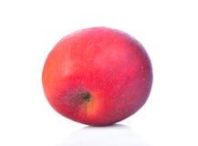 在白色背景,底部的苹果计算机孤立 图库摄影
