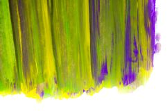 在白色背景,手画刷子冲程的抽象水彩 免版税库存图片