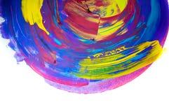 在白色背景,手画刷子冲程的抽象水彩 免版税库存照片