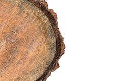 在白色背景001的木日志孤立 免版税库存图片
