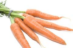 在白色背景001的红萝卜 免版税库存照片