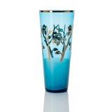 在白色背景-刻花玻璃-隔绝的古色古香的花瓶 免版税库存照片