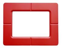 在白色背景-隔绝的红色照片框架 库存图片