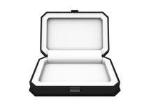 在白色背景3D翻译的光盘盒 免版税图库摄影