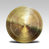 在白色背景3d翻译的金黄bancor硬币 免版税库存照片