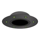 在白色背景issolated的UFO, 库存图片