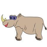 犀牛动画片传染媒介例证 免版税库存照片