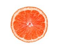 在白色葡萄柚隔绝的切片 库存照片