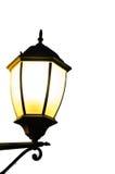 在白色被隔绝的背景的街灯灯笼 免版税图库摄影