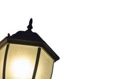 在白色被隔绝的背景的街灯灯笼 免版税库存图片