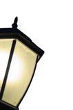 在白色被隔绝的背景的街灯灯笼 库存图片