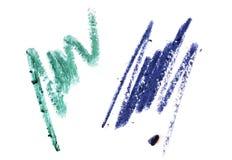 在白色隔绝的化妆铅笔冲程 库存照片