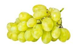 在白色隔绝的新鲜的葡萄 免版税库存图片