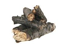 在白色隔绝的木柴 免版税库存照片