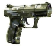 在白色隔绝的枪手枪 免版税库存图片