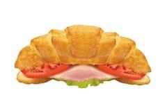 在白色隔绝的次级三明治 免版税库存照片