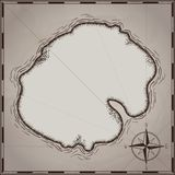在白色隔绝的海盗珍宝地图手拉动画片贷方,在无人居住的海岛发怒标志方式查寻金胸口的棕榈 皇族释放例证