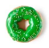 在白色隔绝的绿色多福饼,从上面 免版税图库摄影