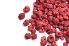在白色隔绝的莓干燥 免版税库存照片