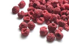 在白色隔绝的莓干燥 免版税库存图片