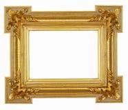 在白色隔绝的金框架47 免版税库存照片