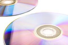 在白色隔绝的CD的dvd 图库摄影