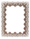 在白色隔绝的一个空的金属框架 库存照片