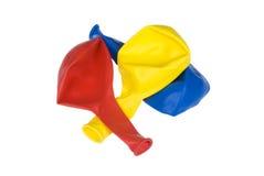 在白色隔绝的三个气球 免版税库存图片