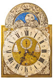 在白色隔绝的中世纪德国时钟 库存照片