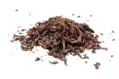 在白色隔绝的中国黑暗的茶Puerh 免版税库存照片
