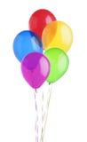 在白色隔绝的五颜六色的气球 库存图片
