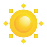 在白色隔绝的传染媒介抽象太阳象 向量例证
