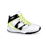 在白色隔绝的体育鞋子 免版税库存图片