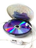 在白色隔绝的便携式的CD的音频球员 免版税图库摄影