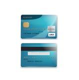 在白色隔绝的信用卡 免版税库存图片