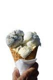 在白色隔绝的冰淇凌 库存图片