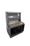 在白色隔绝的减速火箭的自动电唱机 库存照片