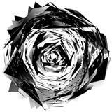 在白色隔绝的几何单色元素 粗砺,锋利, tex 免版税库存照片