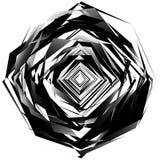 在白色隔绝的几何单色元素 粗砺,锋利, tex 免版税库存图片