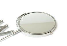 在白色隔绝的化妆放大镜 库存图片