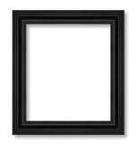 在白色隔绝的古色古香的黑框架 免版税库存图片