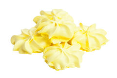 在白色隔绝的可口开胃蛋白甜饼 库存图片