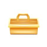 在白色隔绝的唯一工具箱 免版税库存照片