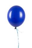 在白色隔绝的唯一蓝色气球 免版税库存照片